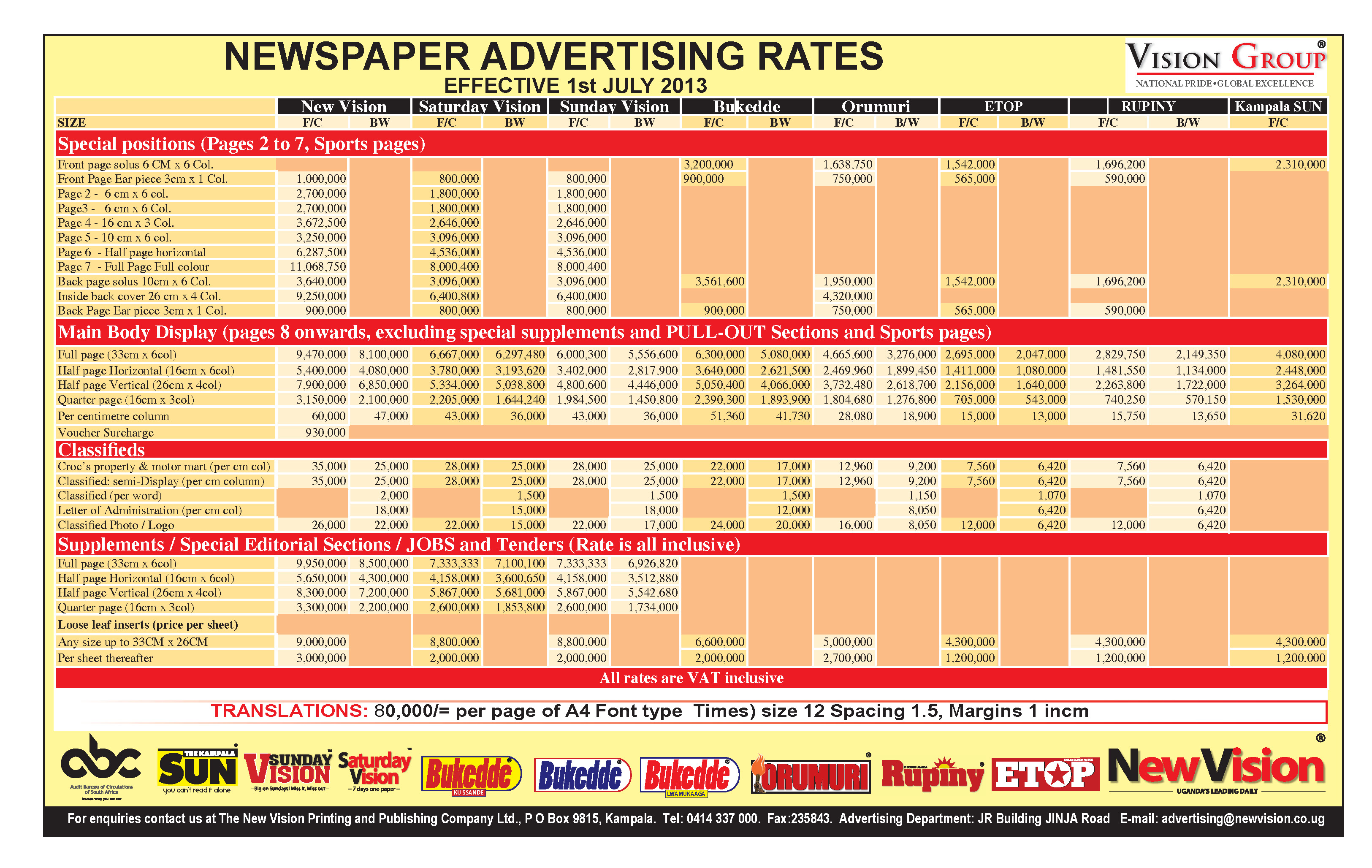 Local advertising papers